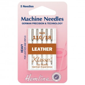 Leather Machine Needles: Heavy 110/18