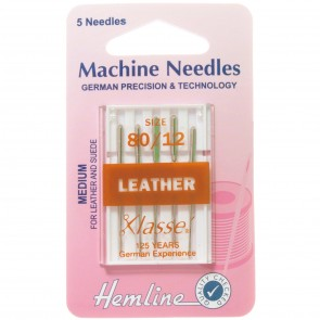Leather Machine Needles: Medium 80/12