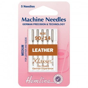 Leather Machine Needles Medium 90/14