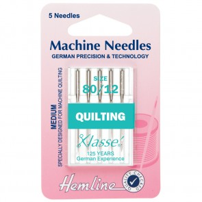 Quilting Machine Needles: Medium 80/12