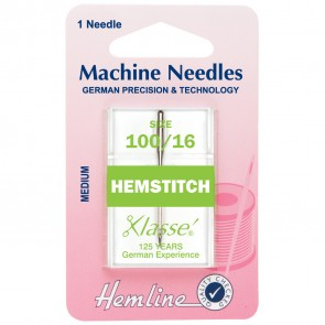 Hemstitch Machine Needles: 100/16