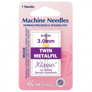 Metalfil Twin Machine Needles: 80/12 - 3mm