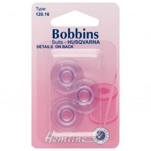 Plastic Bobbin: Husqvarna/Viking