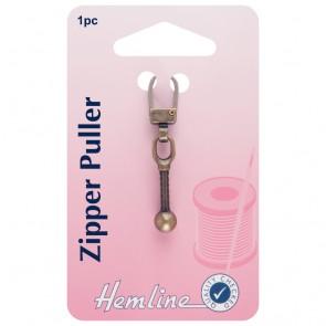 Zipper Puller: Ball - Bronze