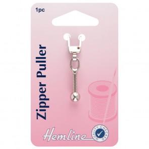 Zipper Puller: Ball - Silver