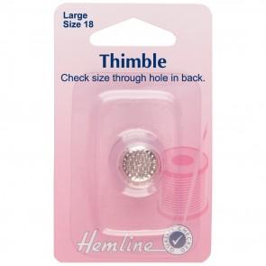Thimble: Metal - Size 18, Large