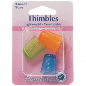 Thimble: Light Weight - 3 Assorted Sizes