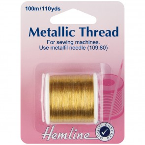 Metallic Thread: Gold - 100m