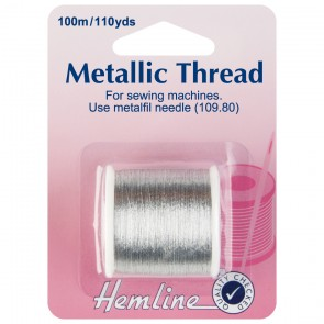 Metallic Thread: Silver - 100m