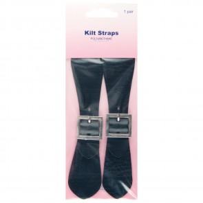 Kilt Straps: Black