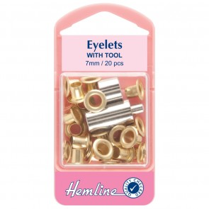 Eyelets: Gold/Brass - 7mm - 20pcs