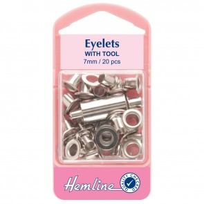 Eyelets: Nickel - 7mm - 20pcs