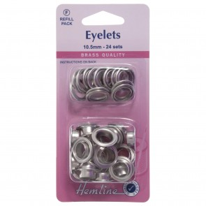 Eyelets Refill Pack: Nickel/Silver - 10.5mm (F)