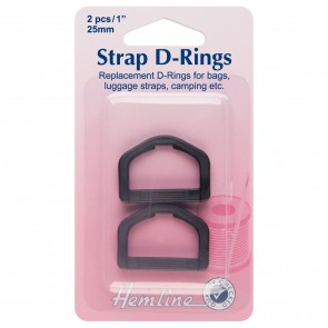 Strap D Rings: Black: 25mm