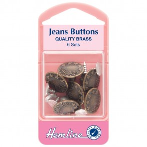 Jean Buttons: Bronze - 16mm