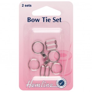 Bow Tie Set: Nickel - 2 Sets