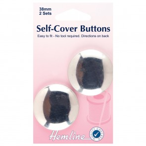 Self Cover Buttons: Metal Top - 38mm