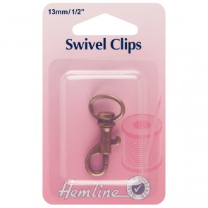 Swivel Clip: Bronze: 13mm