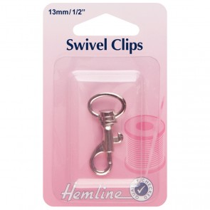 Swivel Clip: Nickel: 13mm