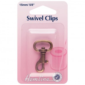 Swivel Clip: Bronze: 15mm