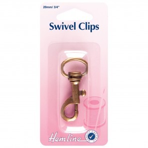 Swivel Clip: Bronze: 20mm