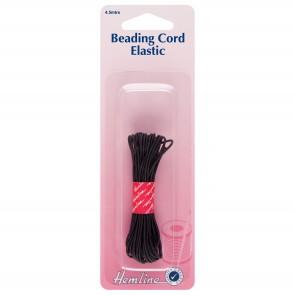 Beading Cord Elastic: Black 4.5m x 1.3mm
