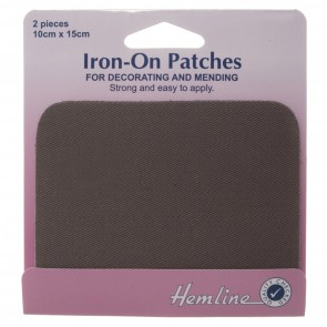 Cotton Twill Patches: Dark Grey - 10 x 15cm
