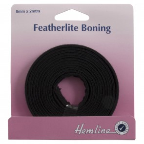 Featherlite Boning: Black - 2m x 8mm