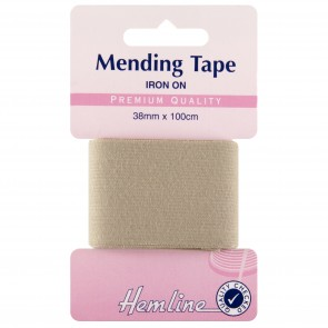 Iron-On Mending Tape: Beige - 100cm x 38mm