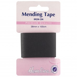Iron-On Mending Tape: Black - 100cm x 38mm