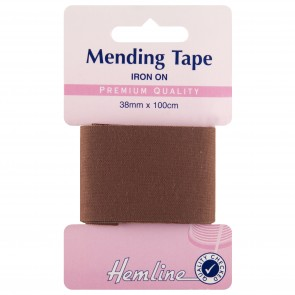 Iron-On Mending Tape: Brown - 100cm x 38mm