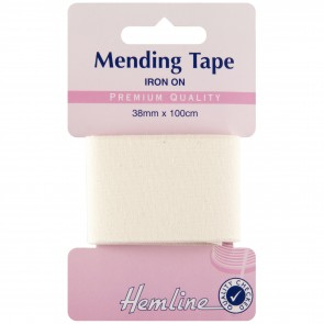 Iron-On Mending Tape: Cream - 100cm x 38mm