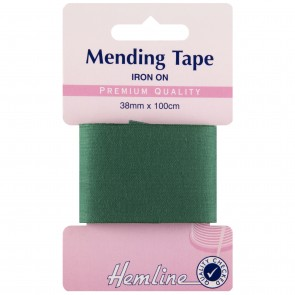Iron-On Mending Tape: Green - 100cm x 38mm