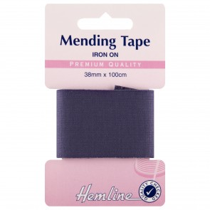 Iron-On Mending Tape: Navy - 100cm x 38mm