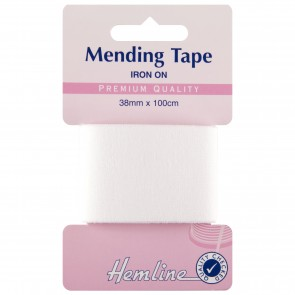 Iron-On Mending Tape: White - 100cm x 38mm