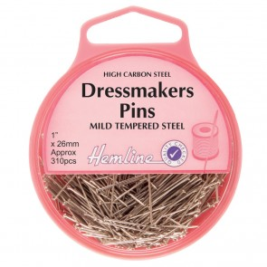 Dressmaker Pins: Nickel: 26mm, 310pcs