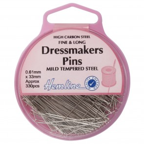 Dressmaker Pin: Nickel - 30mm, 330pcs