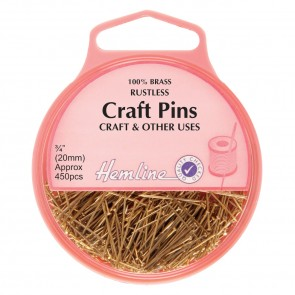 Craft Pins: Brass - 20mm, 450pcs