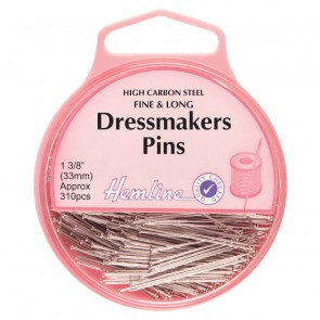 Dressmakers Fine Pins: Nickel - 33mm, 230pcs