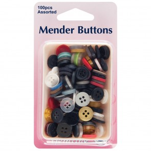 Mender Buttons: Assorted Value Pack - 100pcs