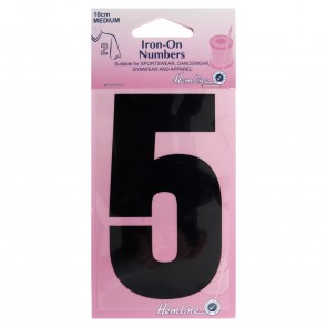 Iron-On Number: 10cm: Black: 5