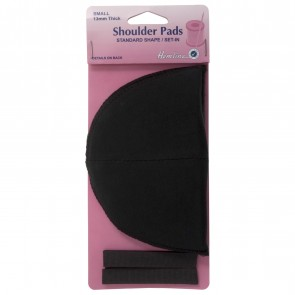 Shoulder Pads: Standard Set-In - Black, Small