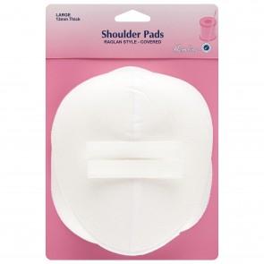 Shoulder Pad: Raglan Style - White, Large