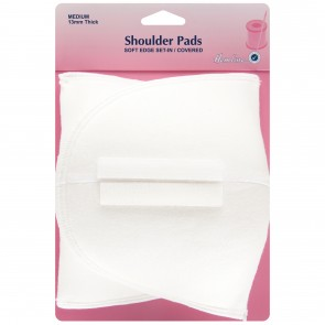 Shoulder Pad: Soft Edge Set-In - White, Medium
