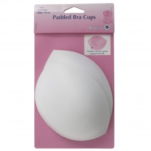 Padded Bra Cups: White, Medium