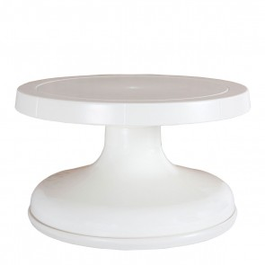 "8.5"" Professional Revolving Turntable - Lace White (Tall)"