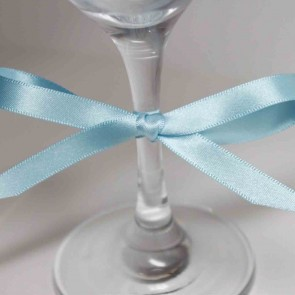 Double Face Satin Ribbon 3mm Light Blue (91.4 Metres)
