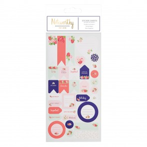 Sticker Sheet (42pcs) - Graphic Florals