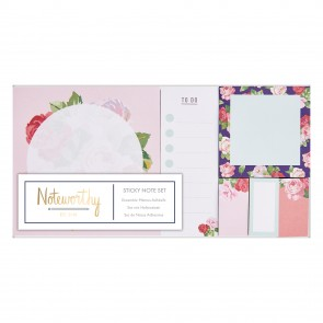 Sticky Notes Set - Graphic Florals