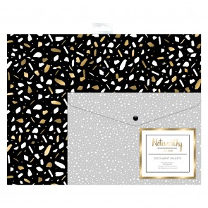 Document Wallets (2pcs) - Metallic Mono